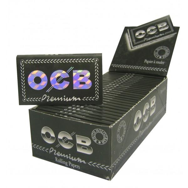 OCB Schwarz Premium Double Papers kurz, 25er Box