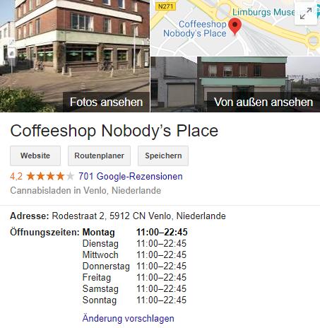 Venlo coffeeshop in Amsterdam Coffeeshop